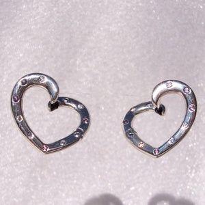 0cf2469017098 PANDORA Bright Hearts Crystal & CZ Hoop Earrings